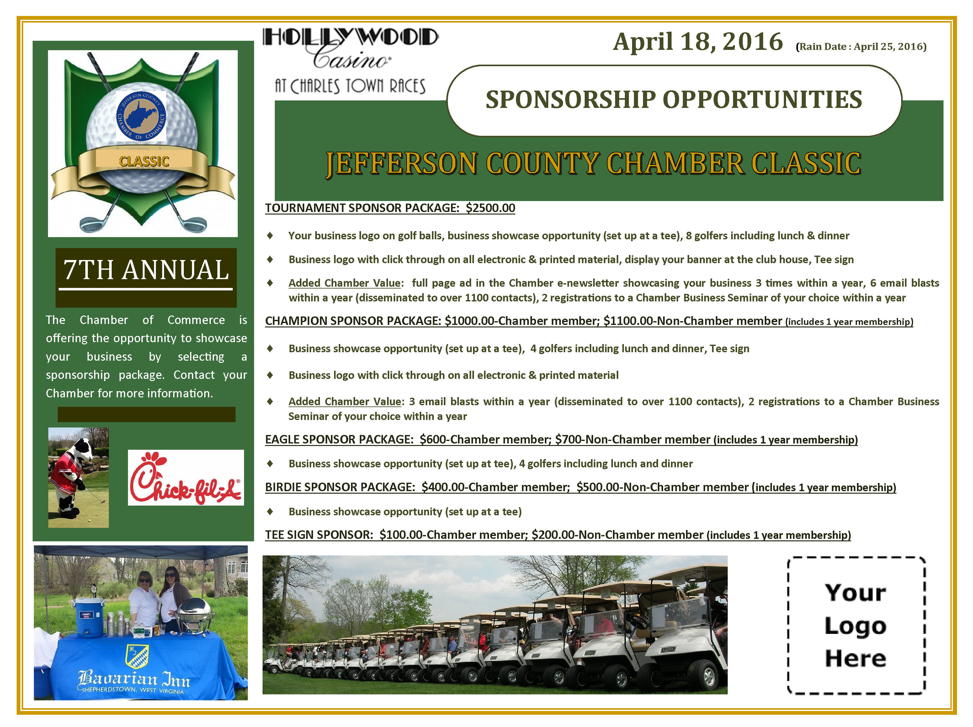 2016 Golf Tournament Sponsorship Flyer-open logo